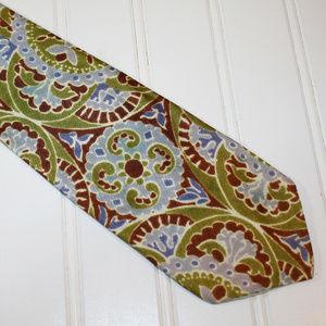 VINTAGE Psychedelic Paisley Floral Boho Neck Tie